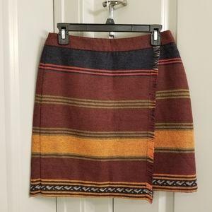 Ann Taylor LOFT Tribal Mini Skirt Size 4